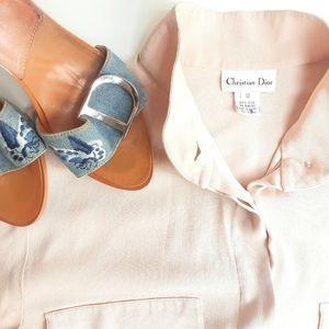 Christian Dior Vintage Silk Long Sleeve Shirt 12